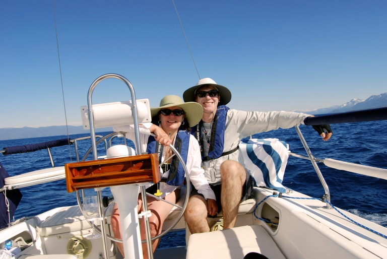 Debbie and David Sailing on July 4, 2011.